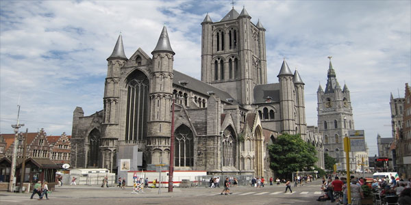 Cathedral-of-Saint-Bavo,-Ghent